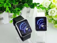 Wholesale Digital Watc - Cool Charm Black Silicone Blue Light LED Display Men Sport Digital Wrist Watch Fashion Sporty Watch For Man Women Classcial LED Digital Watc