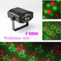 Atacado HOT Mini-som portátil Ativo Multi-padrão verde do Xmas Red RG Laser iluminação do estágio Projector DJ Wedding Dance Bar Party Light-N