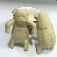 Wholesale Lovely Pug - New Arrive Lovely Tea Strainers Pug In A Mug Silicone Tea Infuser Kawai Portable Dog Tea Strainers