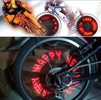 Wholesale Bike Wholesalers Usa - 45pcs 7 LED Bicycle Bike Car Motorcycle USA UK Air Nozzle Tire Valve gas sense Light wheel lamp letters patterns display