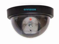 Wholesale Dummy Security Surveillance Camera - Fake Dummy Dome Surveillance CAM Dummy Indoor Security CCTV Camera flashing red led for Home surveillance dummy Cameras