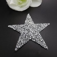 Wholesale Hot Fix Crystal Motif - 25pcs Hot Fix Crystals Motifs Heat Transfer Rhinestones Motifs Crystal Strass Stones Applique Patches For Wedding Clothing Shoe