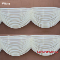 Wholesale Gold Silk Drapes - High quality drape swag to attach ice Silk Wedding Backdrops home curtain swag