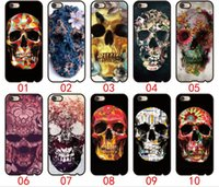 Wholesale Skull Galaxy Note Cases - Floral Skull For iPhone 6 6S 7 Plus SE 5 5S 5C 4S iPod Touch 5 For Samsung Galaxy S6 Edge S5 S4 S3 mini Note 5 4 3 phone cases