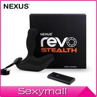 Wholesale Masturbation Rotation - Nexus Revo Stealth 3rd generation prostate massage for 360 Degree Rotation male masturbation remote control vibration anal Sex Toys A0060R