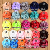 Wholesale Diy Fabric Flower - Baby Girls 8cm Chiffon Fabric Flowers For DIY headbands DIY corsage Kids DIY Christmas Hair Styling Accessories Headwear