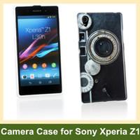 Wholesale Xperia Z1 Retro Case - Wholesale Retro Camera Radio Print Soft TPU Gel Cover Phone Case for Sony Xperia Z1 L39h Free Shipping