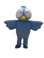 Wholesale Sea Mascot - Adult Size Blue Sea Swallow Mascot Costume Big Eyes Bird Costume Christmas Birthday Party Fancy Dress Free Shipping