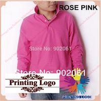 Wholesale Cotton Blank Polo - customized logo your logo screen printing shirt men 2014 Spring blank Long Sleeve 230g Cotton 12 Colours DIY Logo On Tee Shirts