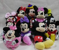 """Wholesale Minnie Mouse Friends - Wholesale-IN HAND NEW Original Classic Edition Mickey Minnie Mouse and Friends 6"""" 9"""" Stuffed Plush doll FREE SHIPPING BEST GIFT"""