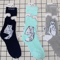 Wholesale Men Fingers Socks - RIPNDIP Socks Tide Brand Middle Finger Skateboard Stockings Towel Stockings For Lovers Outdoor Athletes Socks Leg Warmers Stockings