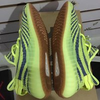 Wholesale Neon Green Laces - Wailly Top 350 Boost Runner v2 Sply 350 Boosts Semi Frozen Yellow Kanye West Shoes Neon V2 Zebra with gum outsole