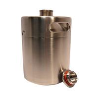 ingrosso viti barili-Mini Beer Bottle Barrels Tappo a vite Beer Growler Homebrew Wine Pot Bicchieri Acciaio inossidabile 2L Flagon 75sf C R