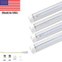 T8 LED Ampoules 28W 36W 42W Blanc Froid V Forme 8ft LED 4ft 5ft 6ft 8 pieds Lampe de travail 65W Tube Fluorescent