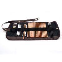 Wholesale Sketch Eraser - S5Q 18PCS Sketch Pencils Charcoal Eraser Paper Extender Pen Cutter Drawing Set AAAELO