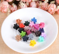 Wholesale Frosting Hair Clip - Children's new hair accessories and lovely Mini Frosted flowers hairpin, scratching bang clip to send gifts for children