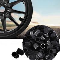 schlüsselkappenabdeckung schwarz großhandel-2017 100 Teile / satz Universal Kunststoff Auto Auto Bike Motorrad Lkw rad Reifen Ventilkappen Kostenloser Versand