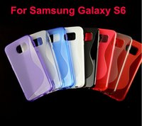 Wholesale S Line Wave Gel Case - For Samsung Galaxy S6 G9200 Wave S Line Soft TPU Gel Case Clear Transparent Crystal Protective Shell 2015 Hot Sale