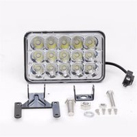New 45W Led Light Work Retângulo High Low Feixe 7 polegadas Off Road Driving Nevoeiro LED Work Bar Luz Para ATV Boat Truck Jeep