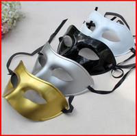 Wholesale mardi gras masks for sale - Hot Sale Silver Gold White Black Man Half Face Archaistic Antique Classic Men Mask Mardi Gras Masquerade Venetian Costume Party Masks 50pcs