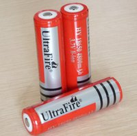 Wholesale lithium ion aa battery - Wholesale 18650 Rechargeable Lithium Li-ion Battery ultrafire 18650 battery free shipping