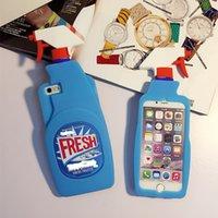 резиновый аромат оптовых-Fresh Couture Чистка Аромата Голубой Распылитель Мягкий резиновый силиконовый чехол для iPhone 5 6 6S Plus 7 7 Plus 8 8 8 PLUS X