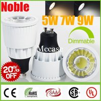 Wholesale 9w Led Bulb Power Supply - 20% OFF-CREE 5W 7W 9W COB LED Lights Spotlights GU10 E27 MR16 Dimmable  Non White Shell Led Spot Bulbs Lights Lamp Power Supply +CSA SAA CE