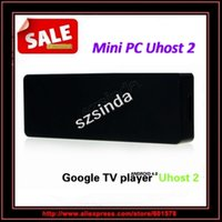 Оптово-Uhost2 EU2 Mini PC Dual Core Cortex-A9 1.6GHz 1GB / 4GB Android 4.0 Google TV Dongle Bluetooth / Anna