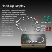 Wholesale Obd Km - Professional Car Alarm System X6 HUD Projector Head Up Display KM h MPH Over Speeding Warning OBD II Inteface HUD Styling K3072