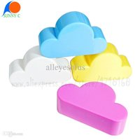 Wholesale Cloud Suck - Wholesale-Creative Home Keyholder Novelty Cloud Shape Magnets Key Holder Suck Rack Magnetic Hanger Chain Ring KeyChain Wall Glass Sticker
