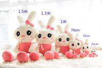 Wholesale Girls 15 Days - Big eyes Rabbits Plush Toys Kids girls Boys Lovely stuffed animals cartoon birthday gift children's accessories