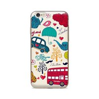 Wholesale London Iphone Case 4s - Wholesale For iPhone 4 4S 5 5S 5C 6 6S 6Plus Of Cartoon Love London Bus Of Skin TPU Silicone Gel Protective Cover