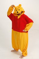 Wholesale One Piece Years - Hot Sale new Winnie pooh Cosplay Pajamas One Piece Adult Onesie for Women Men Warm Christmas Halloween Party Pajama