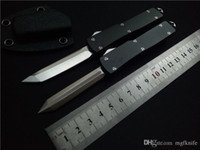 Wholesale Coating Knife - MGF Micro UTX-70 out the front Combat Tactical Knife( CNC D2 steel )Hard Coat Anodized 6061-T6 Aircraft Aluminum handle EDC Pocket knives
