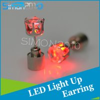 Wholesale Xmas Wholesale Items - Fashion Trendy Ear rings Earstud party queen Glow Bling Earrings Dance Party Accessories for Xmas New Year Men Women Hot Cool item