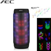 Wholesale led aluminum light box - AEC BQ-615 HIFI Stereo Portable Mini Waterproof Wireless Bluetooth Speaker Colorful LED Lights Sound Box NFC Microphone FM
