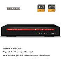Wholesale Dvr Wd1 - 4CH 720P Realtime HD-TVI WD1 DVR 1080p NVR Security Hybrid TVI Analog IP 1 SATA
