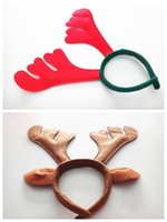 Wholesale Reindeer Bells - deer antler headband antler christmas headbands horn headband with ears Christmas Headwear Christmas reindeer antlers jingle bells hair band