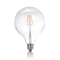 Wholesale Medium Base Led Light Bulbs - Vintage LED Filament Light Bulb,6W,Edison G125 Globe Style,Soft White,110-240V,E26 E27 Medium Base,Dimmable