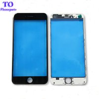 Wholesale Outer Frame - Front Touch Screen Panel Outer Glass Lens with Cold Press Middle Frame Bezel Screen for iPhone 5s 6 6s plus 7 plus