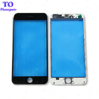 iphone 5s vorderseite großhandel-Frontglas-Frontscheibe mit Kaltpressung Mittlerer Rahmen Lünette für iPhone 5s 6 6s plus 7 plus