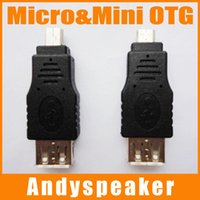 Wholesale Wholesale Micro Switch - Micro OTG Adapter Mini OTG USB Switch Micro&Mini Adapter Black HDMI Male to Female High Speed Good Quality 300pcs up