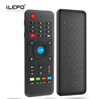 Barato Giroscópio Inteligente-H1 Full Touchpad Air Mouse 6-Axis Gyro Wireless Keyboard com retroiluminação Touchpad Remote Control Combo IR Aprendizagem para Smart Android TV BOX