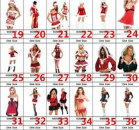 Wholesale Hot Sexy Santa - 2015 Hot sales Christmas cosplay dress up Christmas clothing multi red Little Red Riding Hood princess dress sexy party dress mix order