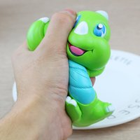 15CM Green Dinosaur Baby Squishy Slow Rising Dinosaurs Então Kawaii Cute Cartoon Phone Strap Squeeze Bread Cake Kid Xmas Toys