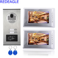 Wholesale Visions Apartments - Two Unit Apartment 7 inch LCD Video Door Phone Intercom System + RFID Access Outdoor Nihgt Vision Camera for 2 Family