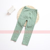 Wholesale Yellow Tights Pink Dots - Children Leggings Baby PP Pants Tights Spring Boys Girls Clothing Trousers Harem Pants Children Leggings Long Underwear Pants