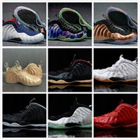 Wholesale Pearl Massage - 2017 Penny Hardaway Basketball Shoes Silver Men Chaussure Homme Air European Pearl Pro One 1 Shoe Cheap Replicas Sport Sneakers