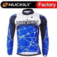 Wholesale Lycra Long Stockings - Nuckily Men's long leeve fleece cycling jersey new design long sleeve thermal fleece bicycle tops in stock ME018