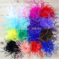 Wholesale Cute Headbands For Sale - 10%OFF 2015! NEW ARRIVAL! fashion cute Ostrich Puff DIY curly ostrich puff for headband 18color  30pcs lot in stock!HOT SALE!FREE SHIPPING!